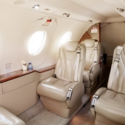 Beechcraft Premier 1a Interior Exxaero private jet for six persons